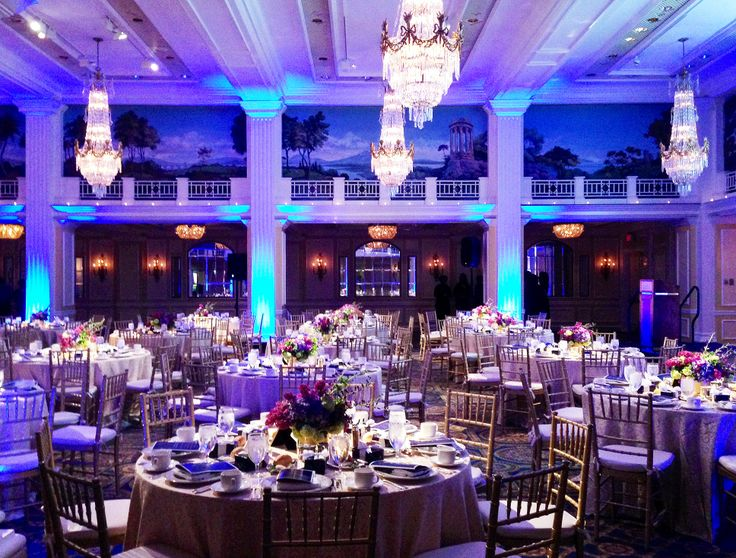 We love this crystal in blue light #wedding reception in ...