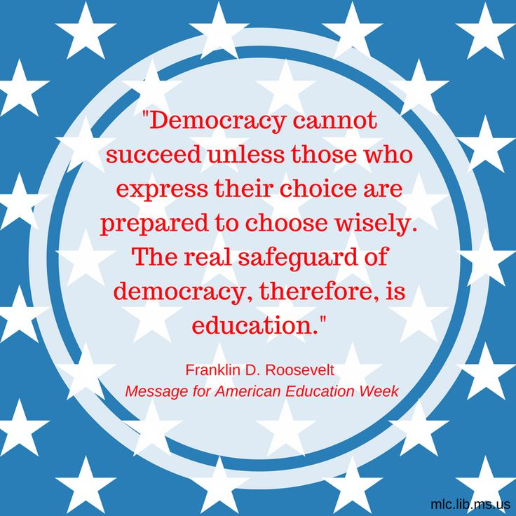 Today's #quote comes from Franklin D. Roosevelt's Message for American Education Week. You can read the entire speech here: http://www.presidency.ucsb.edu/ws/?pid=15545 #democracy #education