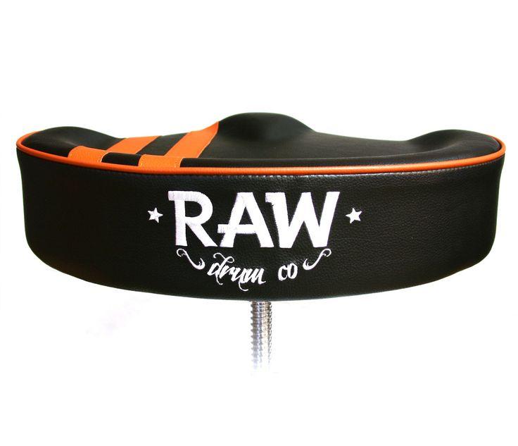 RAW Black Drum Throne http://www.drumshop.co.uk/collections/drum-thrones/products/raw-steve-mcqueen-black-stripe-top-drum-throne-4-legs