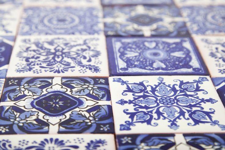 Zestaw 6 wzorów - 30 płytek - kolor niebieski  www.cerames.pl
