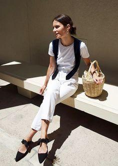 bow tie heels white pants