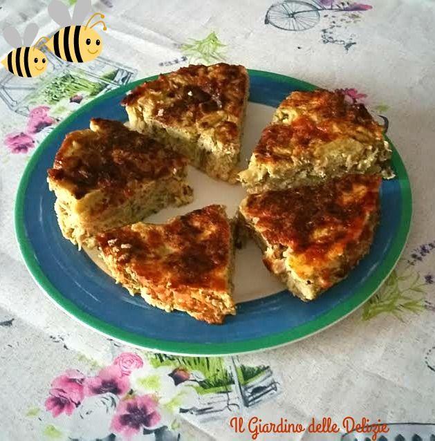 Torta+melanzane+e+prosciutto+al+forno