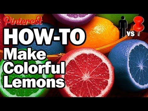 How to make Colorful Lemons....as if this was a real thing. Watch and Enjoy! Man Vs. Pin