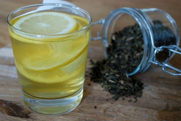 Energidryck med grönt té & citron