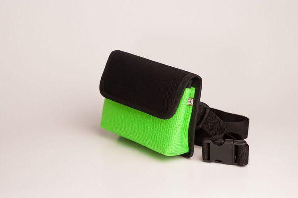 Borsetă, Negru/Verde Neon