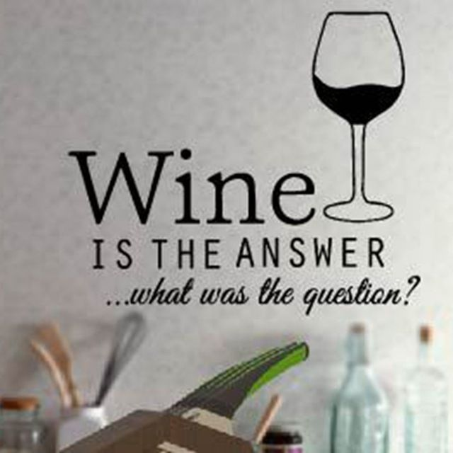 Check it on our site free shipping funny kitchen stickers wine decals ,kitchen wall decor vinyl wine decoration ,F2052m(35x30cm) just only $3.90 with free shipping worldwide  #wallstickers Plese click on picture to see our special price for you