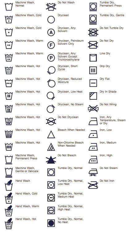best 25  washing instruction symbols ideas on pinterest
