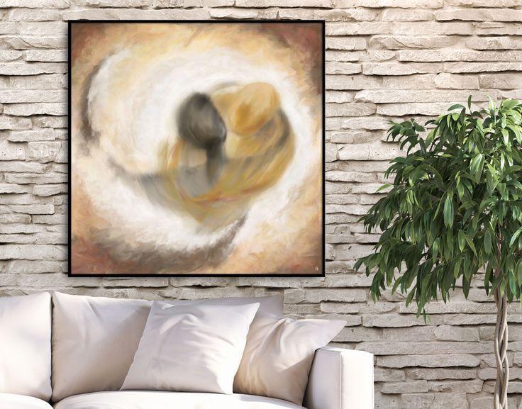 Invite warm feelings and romance to your living space! Shop art prints by FraBor Art.     #walldecor #homedecor #interiordesign #painting # modernart #abstract #minimalist #digital #digitalart #couple #art #fraborart #saatchi #saatchiart #saatchiartist #saatchigallery #saatchiartilove