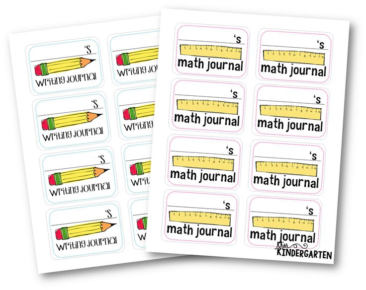 FREEBIE - Writing Journal and Math Journal Labels -Getting Organized! {new student bags}
