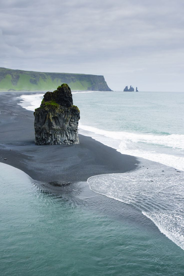 Reynisfjara Beach Photos of the most beautiful places to visit in Iceland Iceland isn't exactly a beach vacation destination, but the black sand and rock formations at Reynisfjara Beach on the south coast are worth visiting for the views—even if you have to wear a coat.