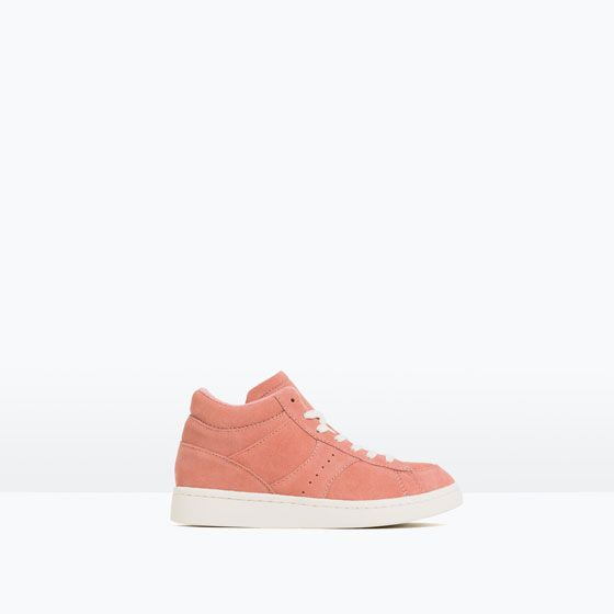 $40 LEATHER HIGH-TOP SNEAKERS
