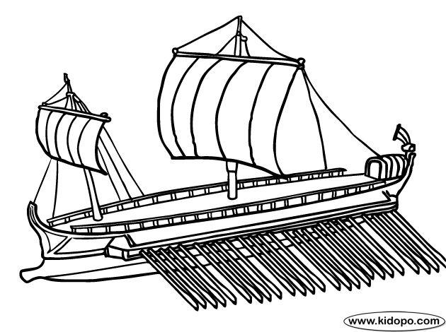 Roman Ship coloring page C1 Week