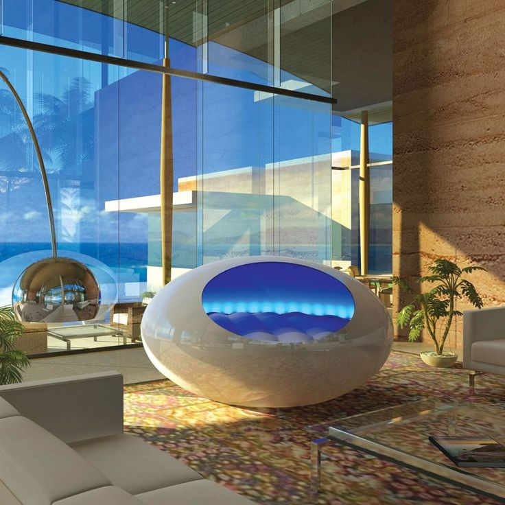 Hammacher Schlemmer | The Tranquility Pod - Uses pleasant sound, gentle vibration, and soothing light to transport the body, mind, and spirit to a tranquil state of relaxation.