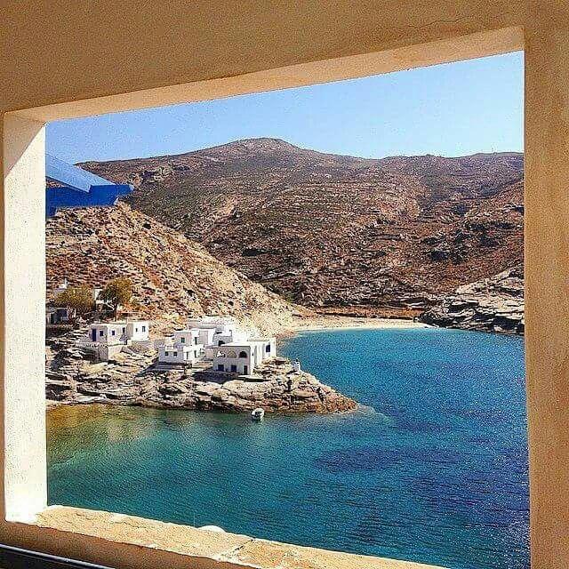 Gorgeous view of Tinos Island