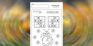 Sudoku pre deti – 10 listov