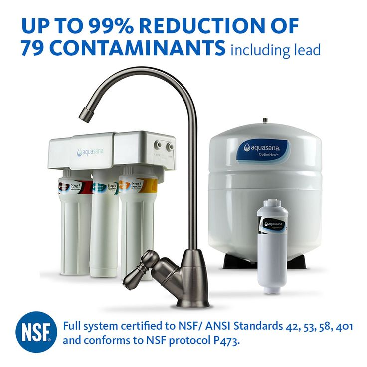 Drink pure water and stay healthy with up to 99% reduction in contaminants with Optimh20 Reverse Osmosis water filter for $199.99 only. Now bid goodbye to fluoride with Aquasana filters.