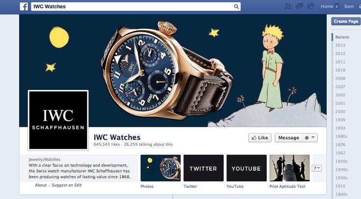 IWC Watches - gutes Engagement mit Fans, die eigene Bilder hochladen. Blicke in Events und neue Modelle. Unspektakulär aber recht interessant. @IWC Watches