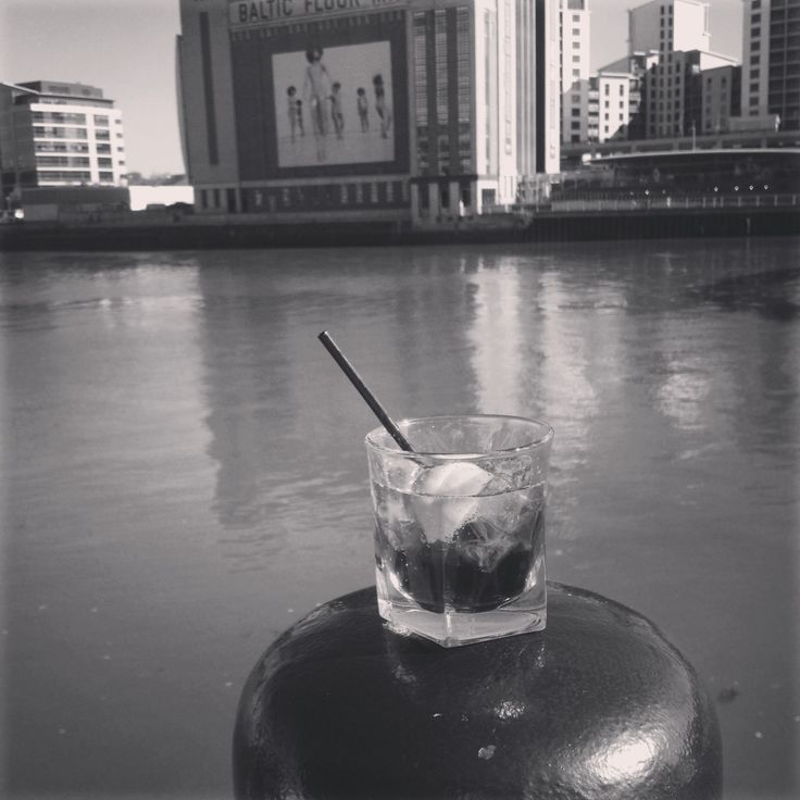 Disaronno and Coke at the Pitcher and Piano, Newcastle Quayside.