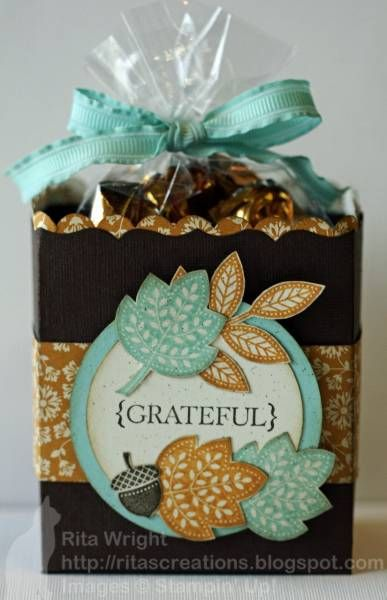 treat bags with Day of Gratitude stamp set. Tools ...