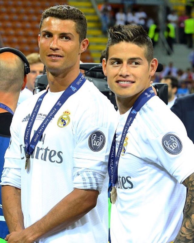 Cristiano and James Rodriguez