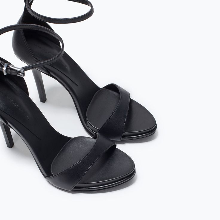 Image 6 of LEATHER HIGH HEEL SANDAL from Zara
