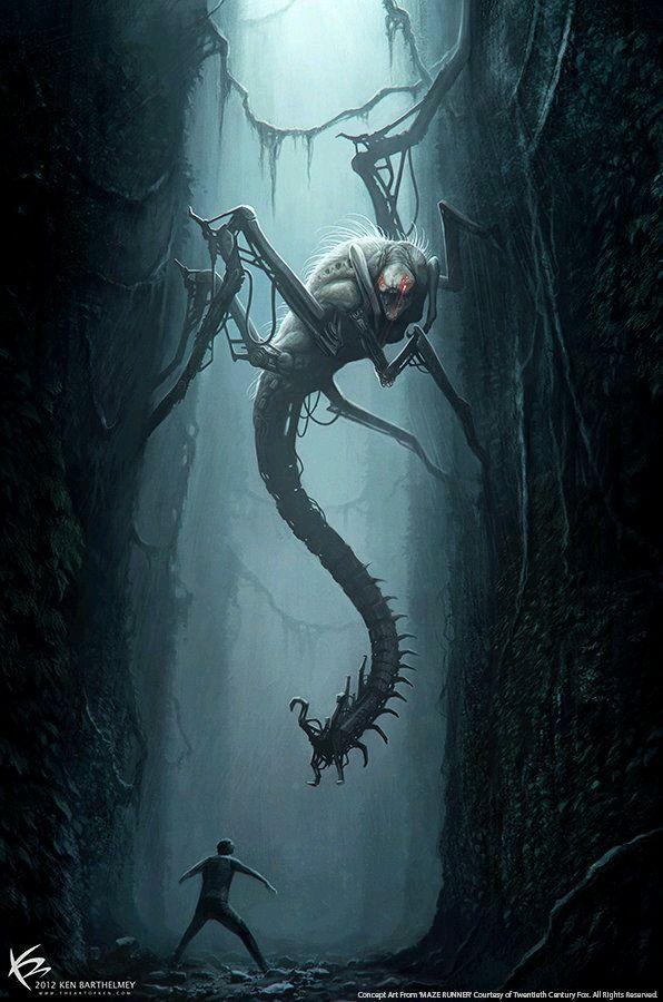 Pin De Banke Otosaka Em Mostruos Dark Fantasy Art Criaturas Escuras Serie Maze Runner
