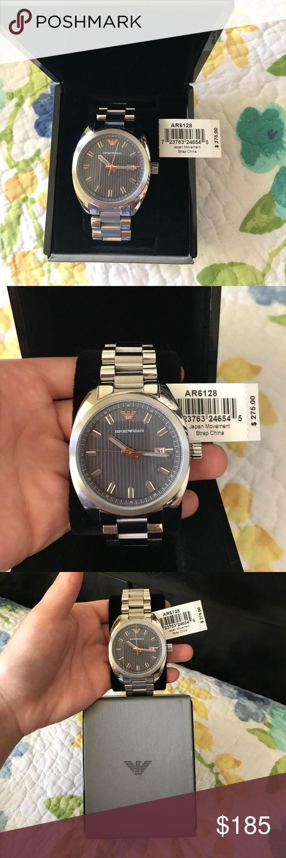 EMPORIO ARMANI BRAND NEW stainless steel watch EMPORIO ARMANI BRAND NEW stainless steel gentlemen watch ⌚️ comes with box just as seen in pictures! Emporio Armani Accessories Watches