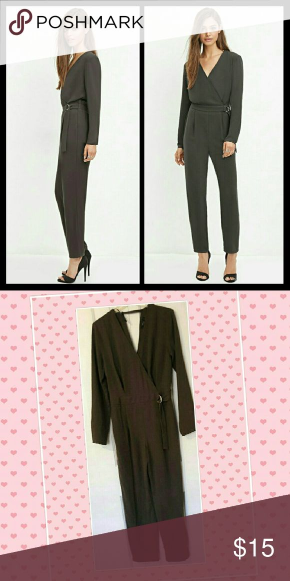 F21  Brown Jumpsuit NWOT Just in time for Fall! Brown Jumpsuit with Silver Hardware Forever 21 Pants Jumpsuits & Rompers