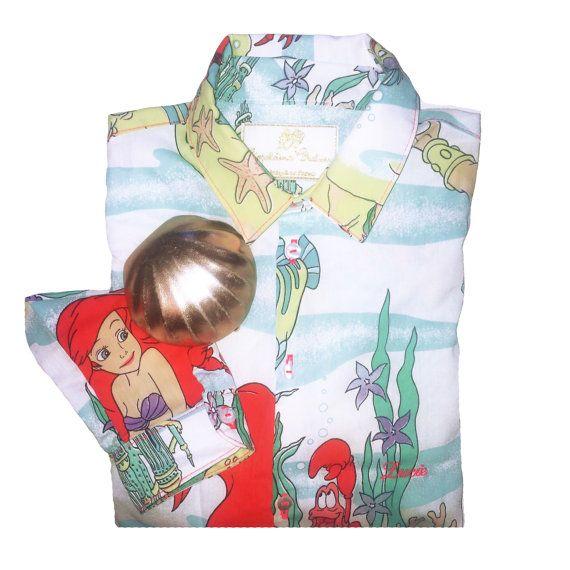 Chemise petite sirène brodée/shirt Little par LeopoldineChateau