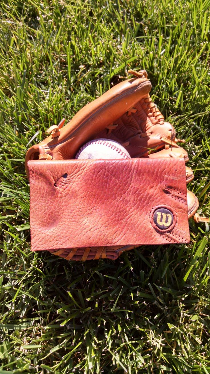 Baseball Glove Checkbook Cover. Made from a real baseball glove! by Spearheaders on Etsy