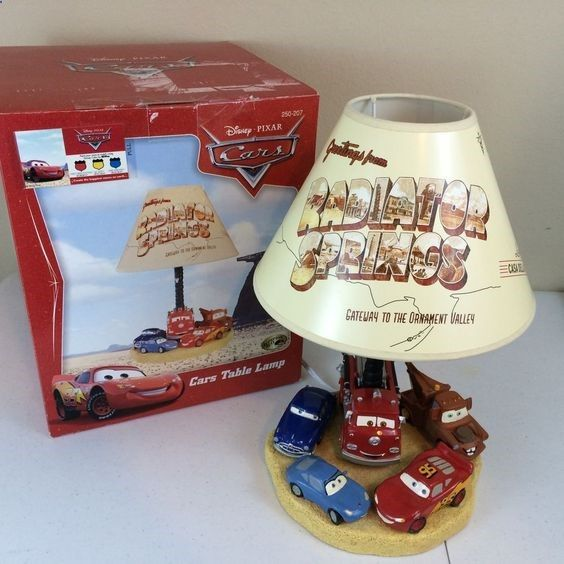 Rare Disney Pixar CARS TABLE LAMP Radiator Springs Hampton Bay Home Depot  W/ Box # Part 70