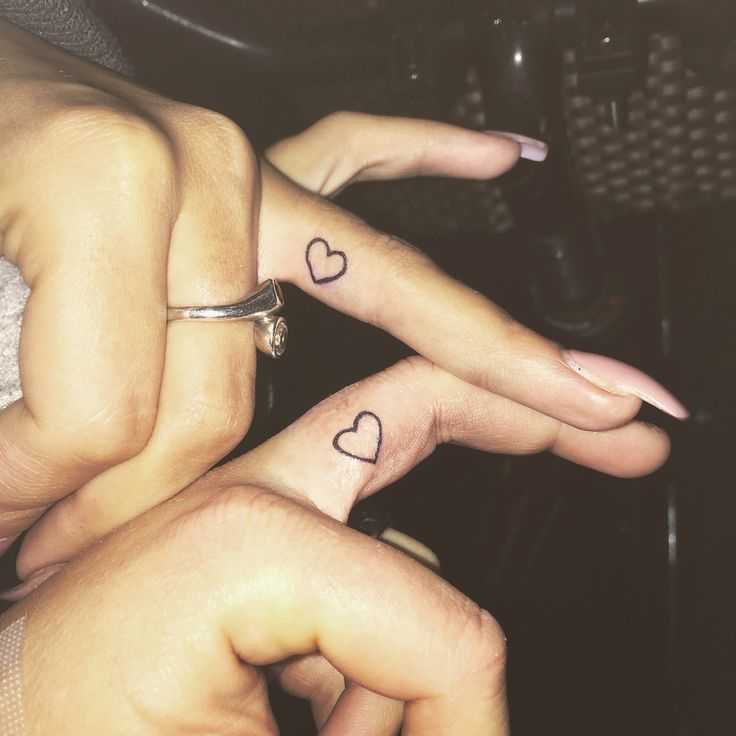#tattoo #friends #heart #finger #bestfriends