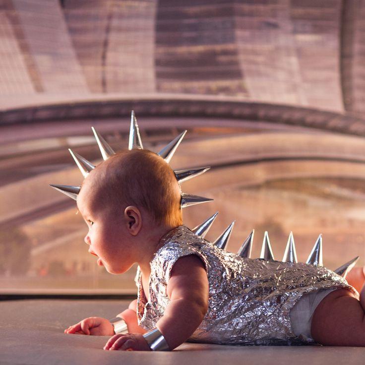 ребенок, малыш, девочка, кибер, будущее,панк
