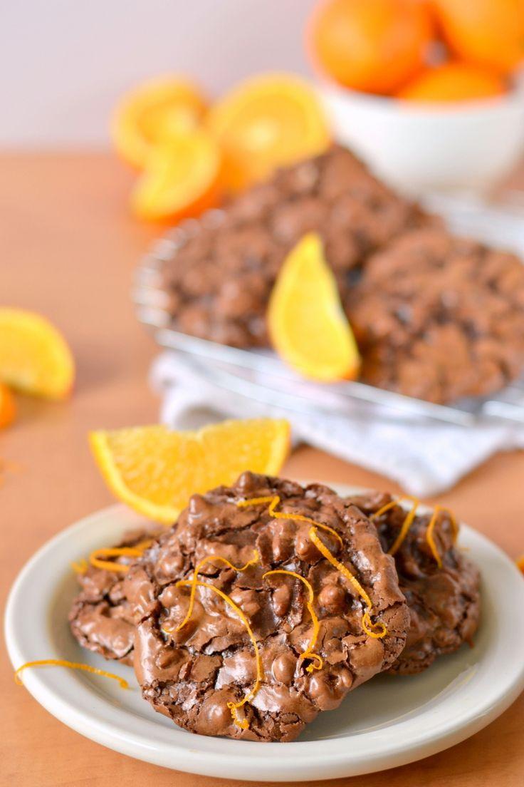 Flourless chocolate orange puddle cookies flourless