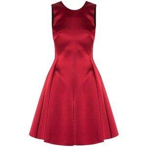 Emporio Armani Satin Bow Back Dress