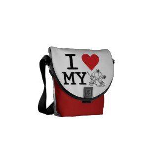 I Love My Goalie Messenger Bag (hockey)