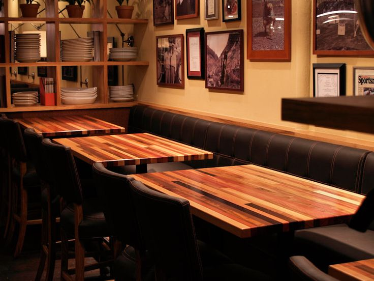 Butcher Block Restaurant Tables Afromosia Custom Wood Countertops
