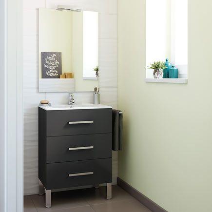 Mueble baño Madrid amarillo 60 x 45 cm · LEROY MERLIN ...