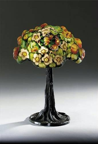 Painted Tree Trunk Table