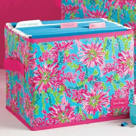 Large Fabric Storage Box in Trippin' and Sippin' by Lilly Pulitzer