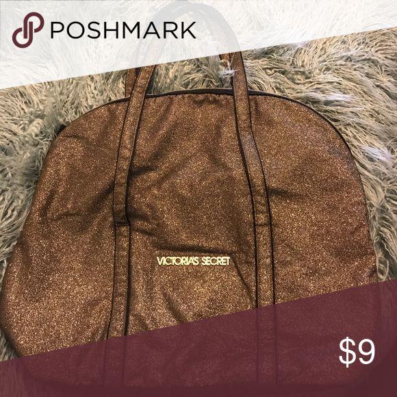Victoria secret sparkly bag Large Gold sparkly bag Victoria's Secret Bags Totes