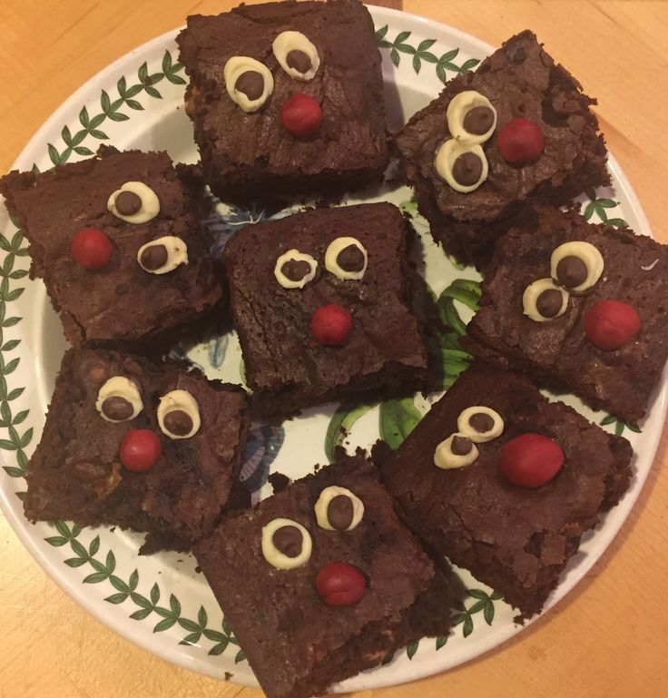 Red Nose Day! Malteser brownies