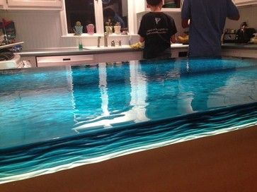 Blue glass counter top - modern - kitchen countertops - other metro - Artistic glass solutions - Monique studio
