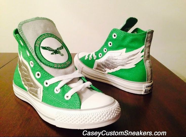 EAGLES fans make your SUPER BOWL fan apparel complete with your very own customized sneakers. Discounts are being offered for upgraded designs and sneakers  #SuperBowl #PhiladelphiaEagles  #NFL #football #EaglesNation #BirdGang #Philadelphia #Eagles #art #fashion #style #apparel #sports #shoes #sneakers #style #Converse