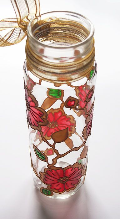 Hand painted vase bottle