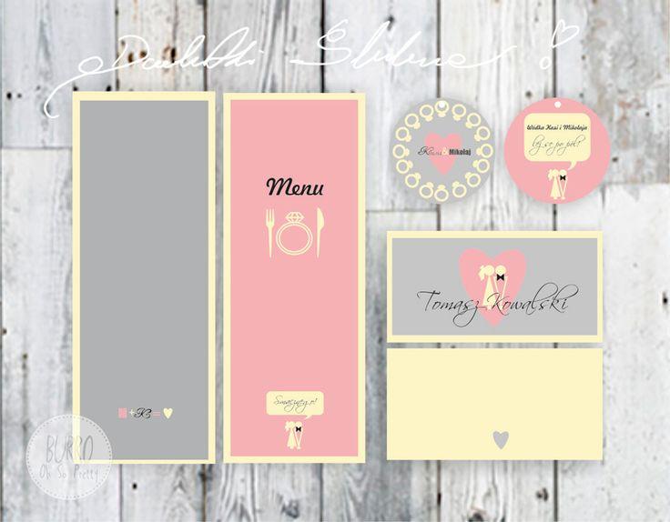 Dodatki ślubne różowo-szare