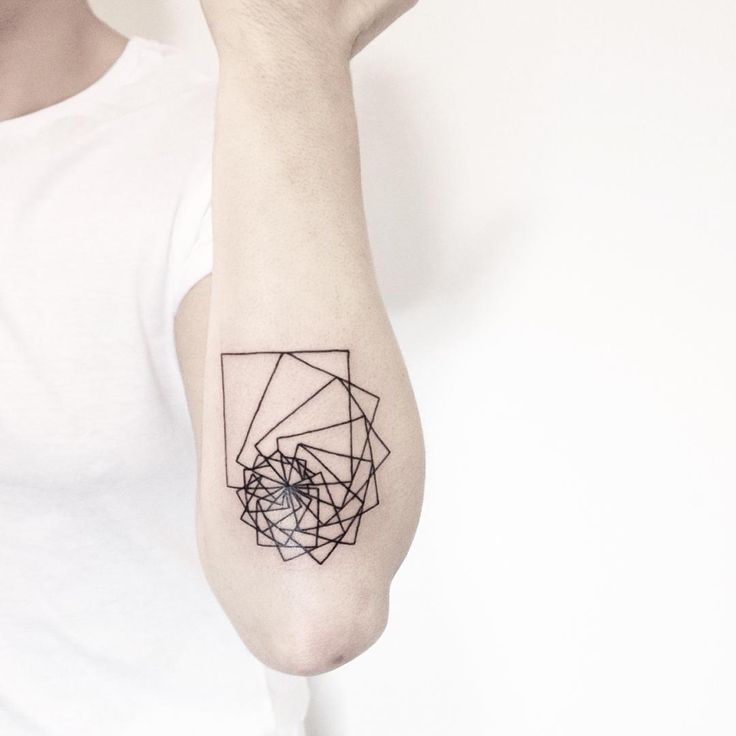 Fibonacci inspired tattoo on my arm by Malvina.. https://www.instagram.com/malwina8/ #sacredgeometry