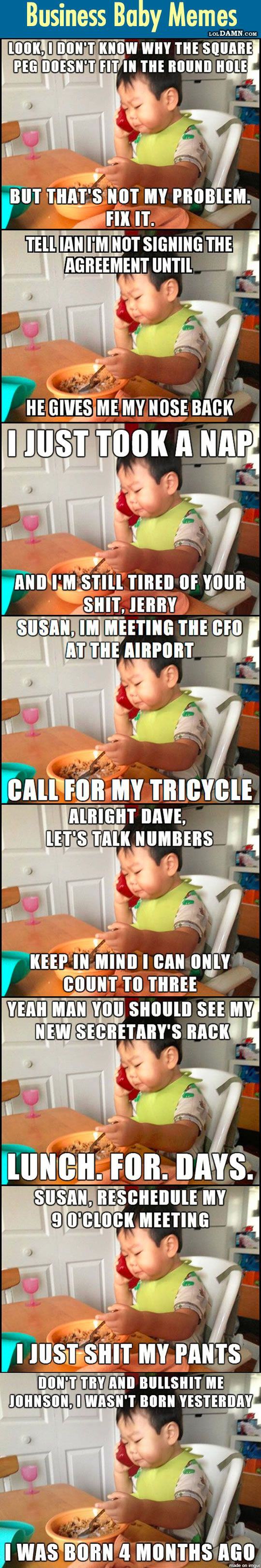 "Here, I Present You The New ""Business Baby"". 10 Funniest Business Baby Memes So Far."
