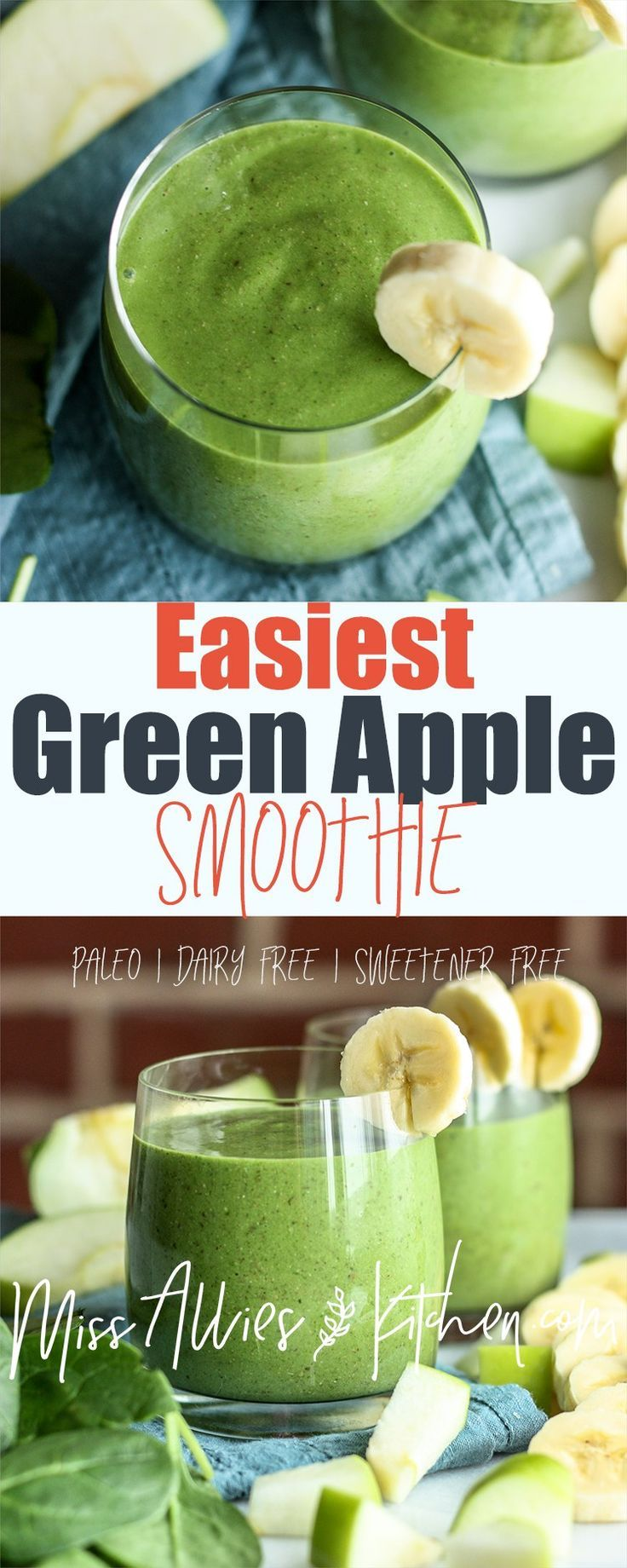 Easiest Green Apple Smoothie