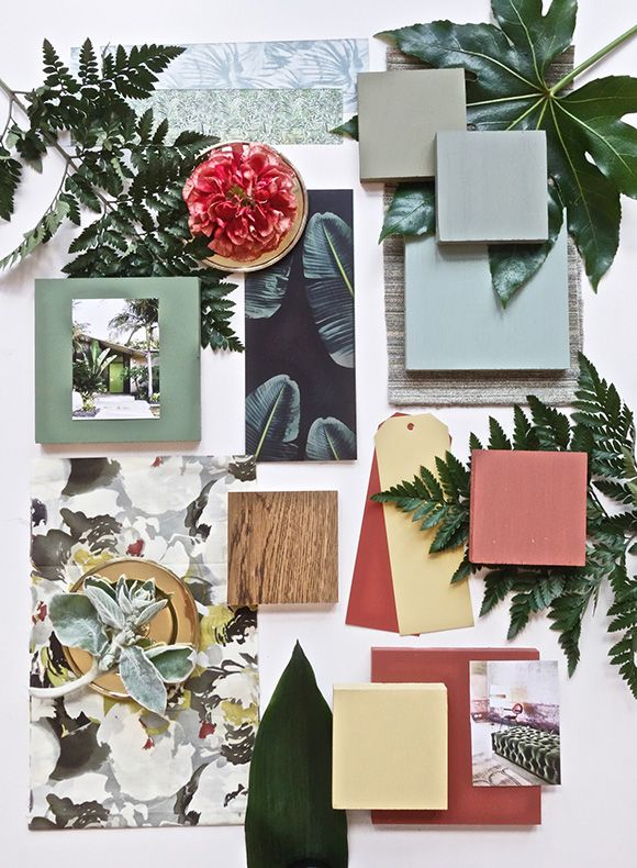 My June Mood Board for Farrow&Ball - Eclectic Trends #moodboard